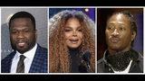 Una combinación de fotografías con el rapero 50 Cent, la cantante Janet Jackson y el rapero Future quienes han sido agregados al cartel del Jeddah World Fest, un festival de música que se celebrará en Arabia Saudí. Nicki Minaj se retiró del concierto después de que organizaciones por los derechos humanos la instaron a cancelar. (Foto AP)
