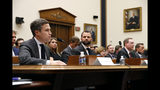 Google Director of Economic Policy Adam Cohen, left, testifies during a House Judiciary subcommittee hearing, Tuesday, July 16, 2019, on Capitol Hill in Washington. (AP Photo/Patrick Semansky)