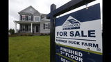 FILE - This June 13, 2019, file photo shows a new home is for sale in Mechanicsville, Va. On Thursday, July 18, Freddie Mac reports on this week's average U.S. mortgage rates. (AP Photo/Steve Helber, File)
