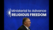 Secretary of State Mike Pompeo walks onstage before speaking at the Ministerial to Advance Religious Freedom, Thursday, July 18, 2019, at the U.S. State Department in Washington. (AP Photo/Patrick Semansky)