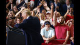 People in the audience cheer as President Donald Trump speaks at a campaign rally at Williams Arena in Greenville, N.C., Wednesday, July 17, 2019. (AP Photo/Carolyn Kaster)