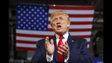 President Donald Trump arrives at a campaign rally at Williams Arena in Greenville, N.C., Wednesday, July 17, 2019. (AP Photo/Carolyn Kaster)