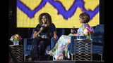 Michelle Obama and Gayle King participate in the 2019 Essence Festival at the Mercedes-Benz Superdome, Saturday, July 6, 2019, in New Orleans. (Photo by Amy Harris/Invision/AP)