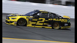 Brad Keselowski heads down the track during a NASCAR Cup Series auto race practice at New Hampshire Motor Speedway in Loudon, N.H., Friday, July 19, 2019. (AP Photo/Charles Krupa)