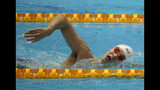China's Sun Yang swims during a training session at the World Swimming Championships in Gwangju, South Korea, Friday, July 19, 2019. (AP Photo/Lee Jin-man)