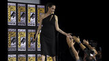 Angelina Jolie greets fans as she walks on stage at the Marvel Studios panel on day three of Comic-Con International on Saturday, July 20, 2019, in San Diego. (Photo by Chris Pizzello/Invision/AP)