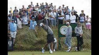 The Latest: Lowry builds 4-shot lead in British Open