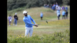 Kyle Stanley of the United States plays out of the rough on the 10th hole during the third round of the British Open Golf Championships at Royal Portrush in Northern Ireland, Saturday, July 20, 2019.(AP Photo/Peter Morrison)