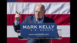FILE - In this Feb. 2019 file photo, former astronaut Mark Kelly speaks during his senate campaign kickoff event in Tucson, Ariz. Democratic candidates in some key states in the 2020 race aren't going along as some in the party's presidential field takes a hard liberal turn. In Arizona, a top Senate target for Democrats, Kelly already has taken pains to distance himself from presidential contenders like Elizabeth Warren, Bernie Sanders and Kamala Harris. (Mike Christy/Arizona Daily Star via AP, File)