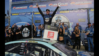Kevin Harvick holds off Denny Hamlin at New Hampshire
