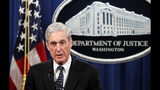 FILE - In this May 29, 2019, file photo, Special counsel Robert Mueller speaks at the Department of Justice in Washington, about the Russia investigation. House Republicans are pledging tough questioning of special counsel Robert Mueller when he testifies before Congress this week as Democrats plan to air evidence of wrongdoing by President Donald Trump in a potentially last-ditch bid to impeach him. (AP Photo/Carolyn Kaster, File)