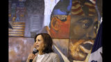 Democratic presidential candidate Sen. Kamala Harris, D-Calif., speaks during a Women of Color roundtable discussion, Tuesday, July 16, 2019, in Davenport, Iowa. (AP Photo/Charlie Neibergall)