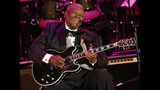 FILE - In this June 20, 2008 file photo, musician B.B. King performs at the opening night of the 87th season of the Hollywood Bowl in Los Angeles. Julien's Auctions announced Tuesday, July 23, 2019, that King's black Gibson ES-345 prototype guitar is among the items from his estate that will go up for bid on Sept. 21. Julien's says Gibson gave King the instrument for his 80th birthday. (AP Photo/Dan Steinberg, File)