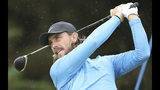 England's Tommy Fleetwood plays his tee shot off the 5th hole during the final round of the British Open Golf Championships at Royal Portrush in Northern Ireland, Sunday, July 21, 2019.(AP Photo/Peter Morrison)