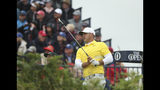 Brooks Koepka of the United States plays from the 3rd tee during the final round of the British Open Golf Championships at Royal Portrush in Northern Ireland, Sunday, July 21, 2019.(AP Photo/Jon Super)