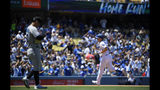 Los Angeles Dodgers' Joc Pederson, right, rounds third after hitting a two-run home run as Miami Marlins starting pitcher Jordan Yamamoto steps off the mound during the third inning of a baseball game Sunday, July 21, 2019, in Los Angeles. (AP Photo/Mark J. Terrill)