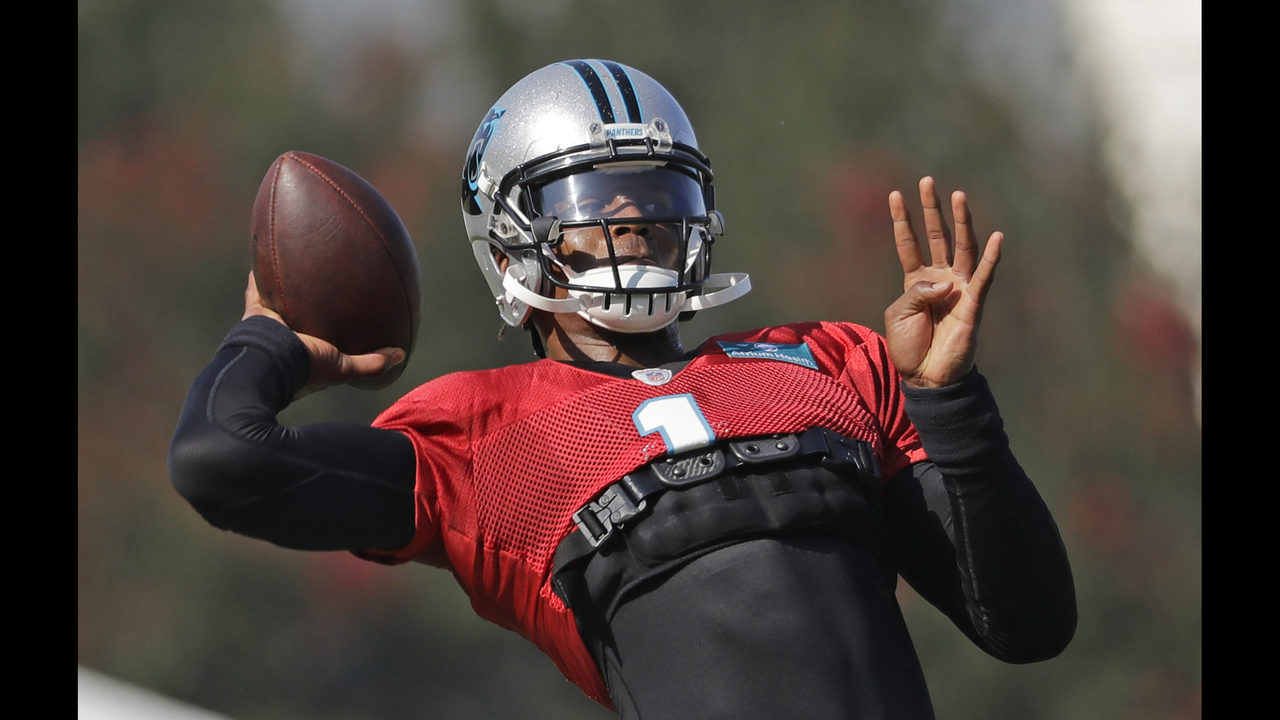 Cam Newton cautions rehab on shoulder is 'a work in progress