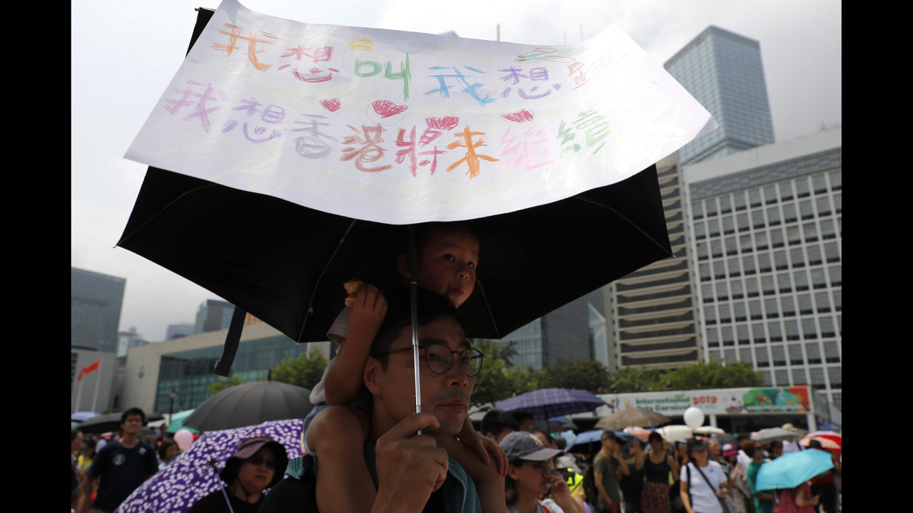 Hong Kong protests move forward despite police objections | WJAX-TV