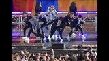 """En esta foto del 15 de mayo del 2019, el grupo de K-pop BTS actúa en """"Good Morning America"""" de ABC en Nueva York. (Foto por Scott Roth/Invision/AP, Archivo)"""