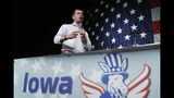 Democratic presidential candidate South Bend, Ind. Mayor Pete Buttigieg speaks at the Iowa Democratic Wing Ding at the Surf Ballroom, Friday, Aug. 9, 2019, in Clear Lake, Iowa. (AP Photo/John Locher)