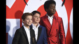 """Jacob Tremblay, from left, Brady Noon and Keith L. Williams arrive at the premiere of """"Good Boys"""" on Wednesday, Aug. 14, 2019, at the Regency Village Theatre in Los Angeles. (Photo by Chris Pizzello/Invision/AP)"""