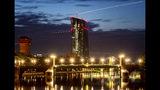 Panorama del Banco Central Europeo en Fráncfort, Alemania, el miércoles 14 de agosto de 2019. (AP Foto/Michael Probst)