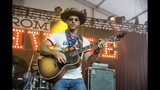 FILE - In this Friday, July 21, 2017 file photo, country singer Drake White performs at the Faster Horses Music Festival in the Brooklyn Trails Campground at Michigan International Speedway in Brooklyn, Mich. White revealed he has a brain condition called arteriovenous malfunction after nearly collapsing on stage. (Photo by Amy Harris/Invision/AP, File)