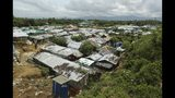 A general view of Nayapara Rohingya refugee camp in Cox's Bazar, Bangladesh, Thursday, Aug.22, 2019. Bangladesh's refugee commissioner said Thursday that no Rohingya Muslims turned up to return to Myanmar from camps in the South Asian nation. (AP Photo/Mahmud Hossain Opu)