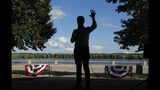 FILE - In this Aug. 14, 2019, file photo, Democratic presidential candidate South Bend Mayor Pete Buttigieg speaks at a campaign event along the Mississippi River in Keokuk, Iowa. Buttigieg is making a faith-based appeal to Democratic voters as he tries to demonstrate his party's religiosity. (AP Photo/John Locher, File)