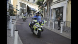 Police officers on motorcycles patrol on deserted streets ahead of the G-7 summit in Biarritz, France Friday, Aug. 23, 2019. U.S. President Donald Trump will join host French President Emmanuel Macron and the leaders of Britain, Germany, Japan, Canada and Italy for the annual G-7 summit in the elegant resort town of Biarritz. (AP Photo/Markus Schreiber)