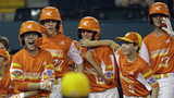 River Ridge, La;'s Reece Roussel (22) heads back to the dugout after his grand slam off South Riding, Va.' Justin Lee during the fourth inning of a baseball game at the Little League World Series in South Williamsport, Pa., Thursday, Aug. 22, 2019. Louisiana won 10-0. (AP Photo/Tom E. Puskar)