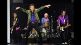 From left, Ron Wood, Mick Jagger, Charlie Watts and Keith Richards of the Rolling Stones perform during their concert at the Rose Bowl, Thursday, Aug. 22, 2019, in Pasadena, Calif. (Photo by Chris Pizzello/Invision/AP)