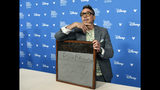 Actor Robert Downey Jr. poses during his handprint ceremony at the Disney Legends press line during the 2019 D23 Expo, Friday, Aug. 23, 2019, in Anaheim, Calif. (Photo by Chris Pizzello/Invision/AP)