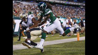 Brees breezes for TD in only series, Saints top Jets 28-13