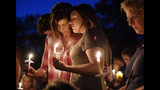 "FILE - In this Sept. 25, 2017 file photo, Connie Robinson, left, hugs her daughter Kayla Compton, both members of Burnette Chapel Church of Christ, during a vigil for victims by Sunday's shooting at the church in Antioch, Tenn. A man charged in the shooting expressed suicidal thoughts in June according to police records. With bipartisan support in many cases, 17 states and Washington D.C. have now passed so-called ""red flag laws"" that allow the court-ordered removal of guns from people who are considered to be dangerous. (Andrew Nelles/The Tennessean via AP, File)"