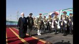 El presidente iraní Hasán Ruhani (izq) en una ceremonia en Irán, el 22 de agosto del 2019. (Foto suministrada por la Presidencia de Irán, vía AP)