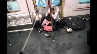 Train to Hong Kong airport suspended after violent protests