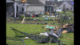 A tornado touched down in the The Farm at Brunswick County in Carolina Shores, N.C. on Thursday, Sept. 5, 2019, damaging homes ahead of Hurricane Dorian's arrival. (Jason Lee/The Sun News via AP)