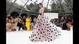 CORRECTS CAPTION AND BYLINE FOR FASHION CAROLINA HERRERA - The Carolina Herrera collection is modeled during Fashion Week, in New York, Monday, Sept. 9, 2019. (AP Photo/Richard Drew)