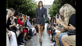 Bella Hadid models fashion from the Michael Kors collection during Fashion Week in New York, Wednesday, Sept. 11, 2019. (AP Photo/Richard Drew)