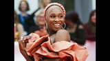 """Actress Cynthia Erivo arrives on the red carpet for the gala premiere of the film """"Harriet """" at the 2019 Toronto International Film Festival in Toronto on Tuesday, Sept. 10, 2019. (Nathan Denette/The Canadian Press via AP)"""