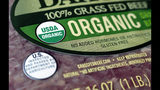 "FILE - In this July 9, 2018 photo a ""USDA Organic"" label is printed on the label of a pound of ground beef, in Walpole, Mass. Labels such as ""Fair Trade Certified "" or ""USDA Organic"" signify that a product's supply chain has gone through some level of vetting. However, standards can vary widely. (AP Photo/Steven Senne, File)"