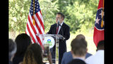 Environmental Protection Agency director Andrew Wheeler speaks about the release of the final report of the national Superfund Task Force, Monday, Sept. 9, 2019, at Southside Community Park in Chattanooga, Tenn. According to Wheeler, the Southside Chattanooga Lead Site serves as a success story for the Superfund program. The site was added to the National Priorities List a year ago, which opened up additional funding opportunities and allowed the EPA to replace the lead-tainted soil. (Erin O. Smith/Chattanooga Times Free Press via AP)