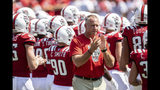 North Carolina State Head Coach Dave Doeren claps as he walks away from a huddle prior to the start of an NCAA college football game against Western Carolina in Raleigh, N.C., Saturday, Sep 7, 2019. (AP Photo/Ben McKeown)