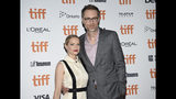"""Actor Stephen Merchant, right, and girlfriend Mircea Monroe attend the premiere for """"Jojo Rabbit"""" on day four of the Toronto International Film Festival at Roy Thomson Hall on Sunday, Sept. 8, 2019, in Toronto. (Photo by Evan Agostini/Invision/AP)"""