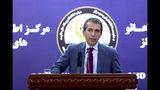 El portavoz presidencial afgano Sediq Seddqi en conferencia de prensa en Kabul el 14 de septiembre del 2019. (AP Photo/Ebrahim Noroozi)