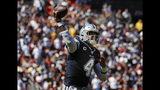 El quarterback de los Cowboys de Dallas Dak Prescott lanza un pase en la primera mitad del juego ante los Redskins de Washington, el domingo 15 de septiembre de 2019, en Landover, Maryland. (AP Foto/Evan Vucci)