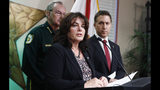 REMOVES AGE REFERENCE - Lori Napolitano, chief of forensic services for the Florida Department of Law Enforcement speaks during a news conference on Monday, Sept. 16, 2019, in West Palm Beach, Fla. Palm Beach County Sheriff's officials said they arrested Robert Hayes for first degree murder in Rachel Bey's death. (AP Photo/Brynn Anderson)