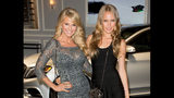 """FILE - In this Sept. 4, 2013 file photo, Christie Brinkley and her daughter Sailor Brinkley Cook arrive at the 2013 Style Awards in New York. ABC says in a written statement that Brinkley is unable to continue this season of """"Dancing With the Stars,"""" following surgery to her wrist and arm. The details of her injury were not given. Sailor Brinkley-Cook will replace her mother on the show. Brinkley-Cook is a model who has appeared in Sports Illustrated.(Photo by Ben Hider/Invision/AP, File)"""