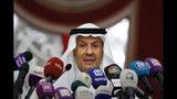 El ministro de Energía de Arabia Saudí, el príncipe Abdulaziz bin Salmán, habla durante una conferencia de prensa en Yeda, Arabia Saudí, el martes 17 de septiembre de 2019. (AP Foto/Amr Nabil)